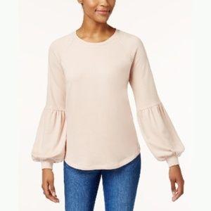 Style & Co Bishop-Sleeve Sweatshirt